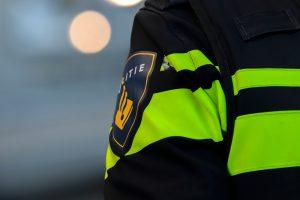 politie vest met logo